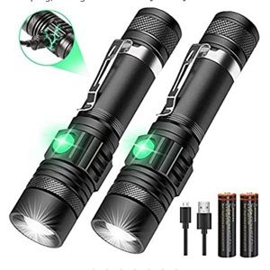 2 Pack LED Flashlights Rechargeable, Vnina